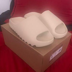 Adidas Yeezy Slide 'Bone' Shoes - Size 12.